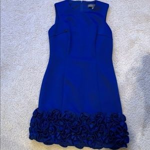 Stunning blue Donna Ricco ruffle dress